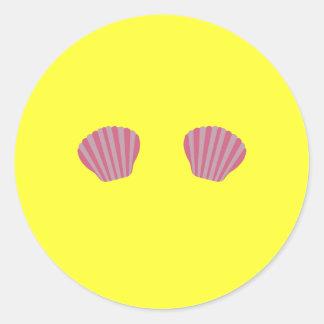 Biquini cor-de-rosa da sereia adesivo