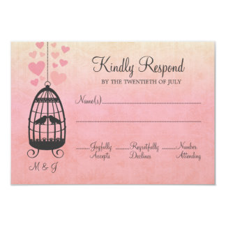 Birdcage dos Lovebirds que Wedding o cartão de Convite Personalizados