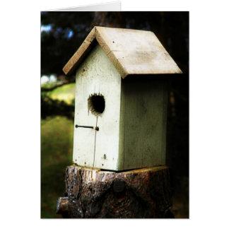 Birdhouse Cartão Comemorativo