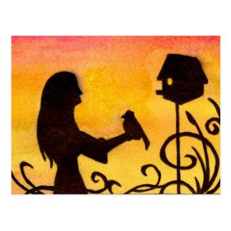 Birdhouse Cartão Postal