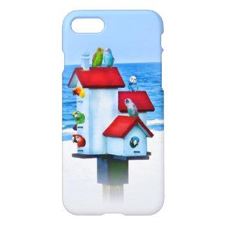 Birdhouse com papagaios e Parakeets Capa iPhone 7