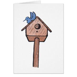Birdhouse do Bluebird… todo o cartão da ocasião…