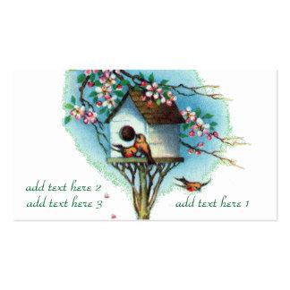 Birdhouse do vintage cartão de visita