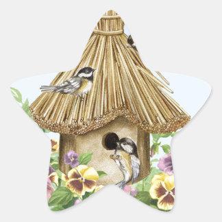 Birdhouse dos Chickadees Adesito Estrela