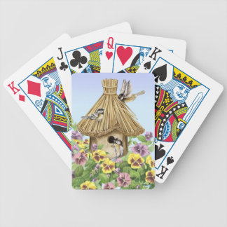 Birdhouse dos Chickadees Baralho Para Pôquer