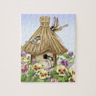 Birdhouse dos Chickadees Quebra-cabeças