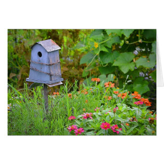 Birdhouse Notecard do jardim Cartão Comemorativo