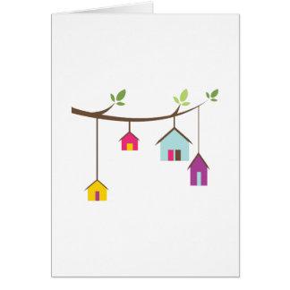 Birdhouses Cartão Comemorativo