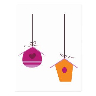 Birdhouses Cartão Postal