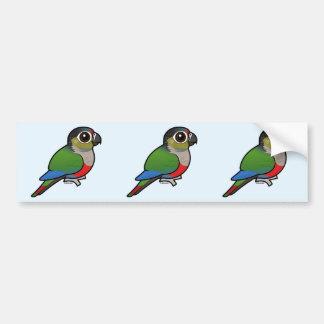 Birdorable Carmesim-inchou o Parakeet Adesivo Para Carro