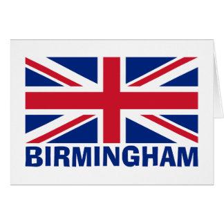 Birmingham no azul cartão comemorativo