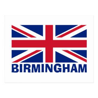 Birmingham no azul cartão postal