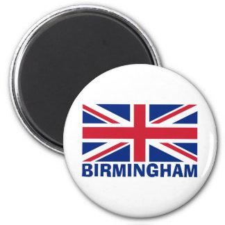 Birmingham no azul ímã redondo 5.08cm