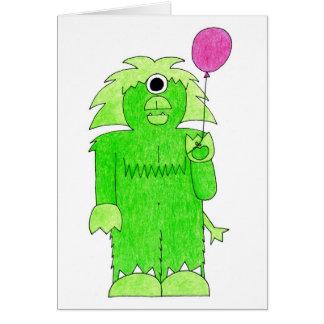 Birthdaymonster Cartão Comemorativo