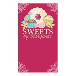 Biscoito feito sob encomenda da trufa dos doces da cartão de visita