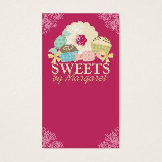 Biscoito feito sob encomenda da trufa dos doces da cartão de visitas