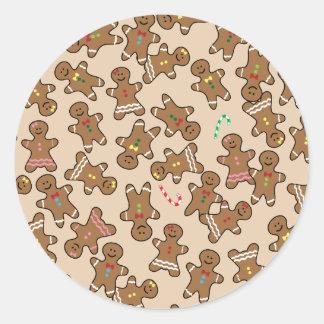 Biscoitos bonitos dos homens de pão-de-espécie do adesivo