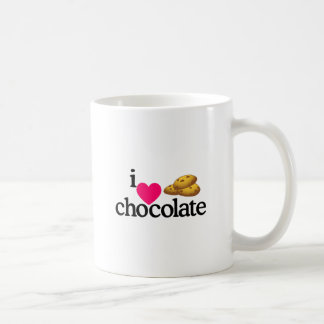 Biscoitos do chocolate do amor caneca de café