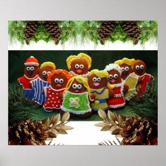 Biscoitos do gengibre no Natal Pôster