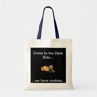 Biscoitos… no lado escuro… sacola tote budget