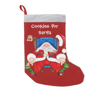 Biscoitos para a meia do Natal do papai noel Meia De Natal Pequena