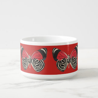 Black and Red Butterfly Chili Bowl Tigela De Sopa