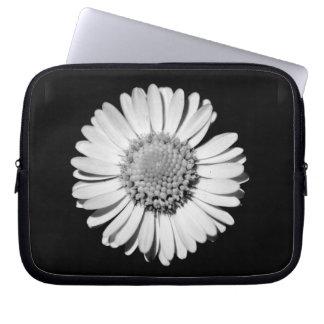Black and Wite Daisy Laptop Compartimento Capa De Notebook