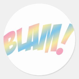 Blam! Adesivo Em Formato Redondo