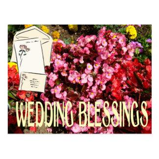 Blassings, cartões e envelopes do casamento cartão postal