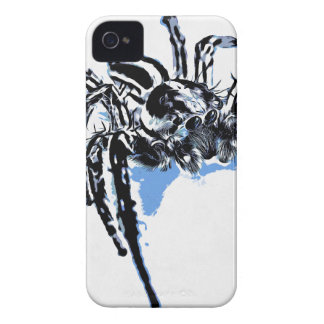 Ble de Blaue Spinne Blaue Spinne Araignée do azul  Capas De iPhone 4 Case-Mate