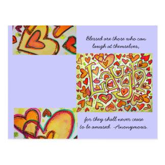 Blessed é aquelas que podem rir o cartão cartão postal