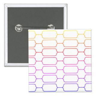 Bloco colorido bóton quadrado 5.08cm