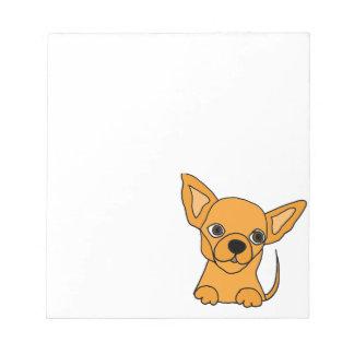 Bloco De Anotação Cão de filhote de cachorro engraçado da chihuahua