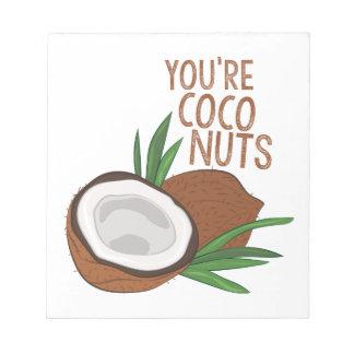 Bloco De Anotação Loucos dos Cocos