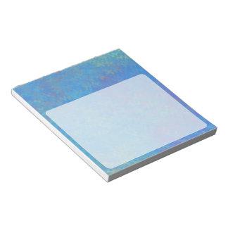 Bloco De Anotação Olhar bonito do papel marmoreado do azul