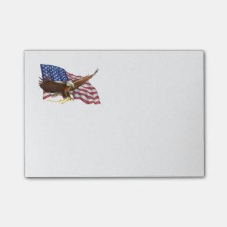 Bloco De Notas Bandeira americana e Eagle