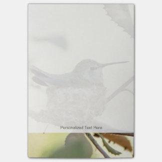 Bloco De Notas Colibri fêmea em seu ninho