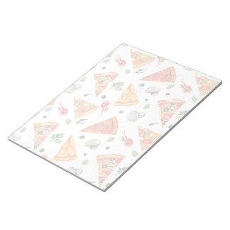Bloco De Notas Cortado da pizza e dos cogumelos