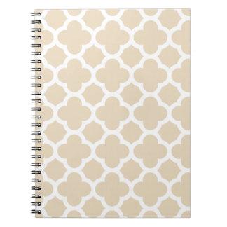 Bloco de notas do teste padrão da treliça de cadernos espiral
