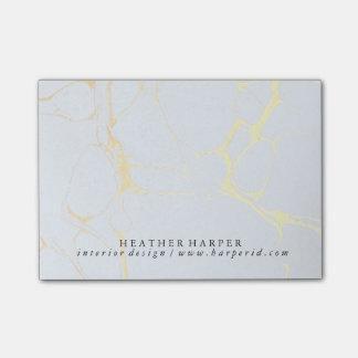 Bloco de notas - mármore do azul & do ouro bloquinho de nota