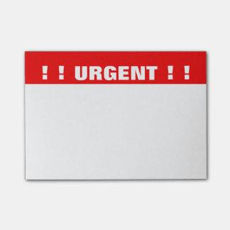 """Bloco De Notas Notas de post-it """"urgentes"""" da prioridade"""