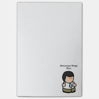 Bloco De Notas O salário mínimo corteja desenhos animados