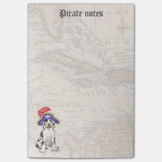 Bloco De Notas Pirata de great dane