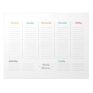 Bloco De Notas Planejador semanal retro simples
