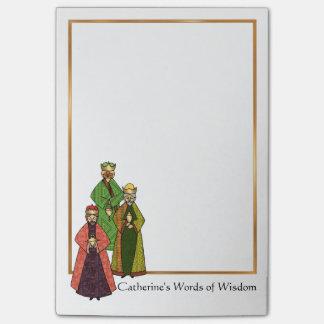 Bloco Post-it Três homens sábios falam palavras da sabedoria