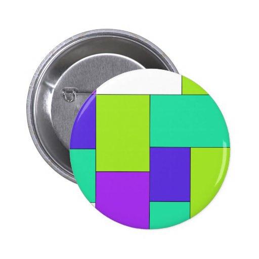 Bloco roxo e azul verde da cor boton