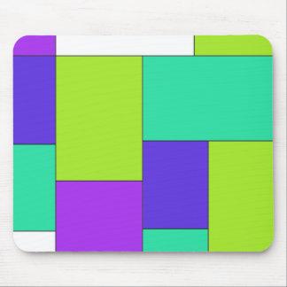 Bloco roxo e azul verde da cor