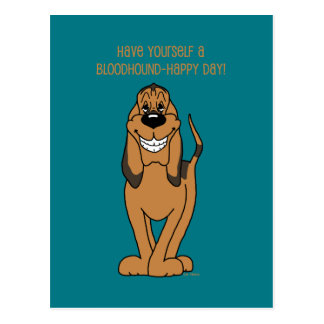 Bloodhound Smile Cartão Postal
