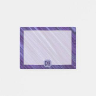 Bloquinho De Notas Lilac violeta roxo do monograma indiferente da