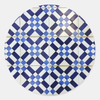 Blue and White Azulejo Adesivo